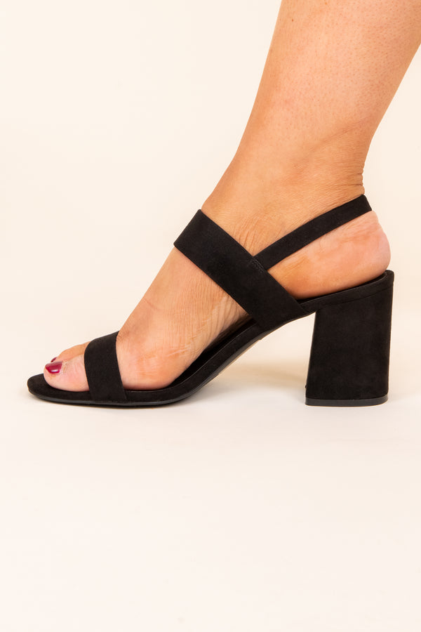 Put Two And Two Together Heels, Black