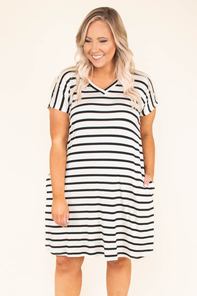 All To Myself Dress, Ivory-Black