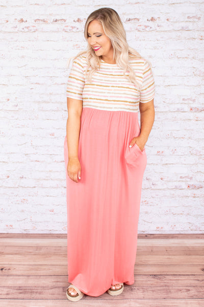 Gone To Town Maxi Dress, Blush