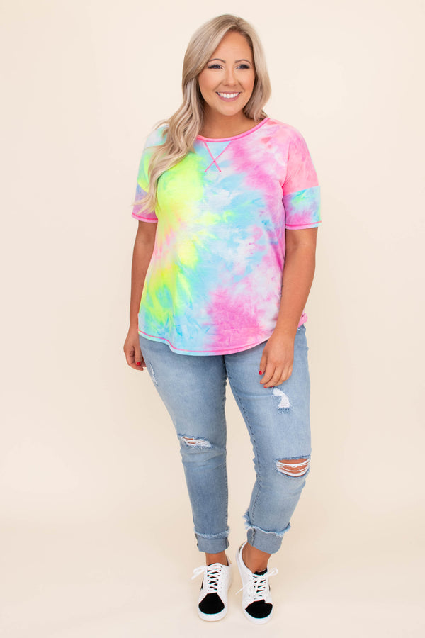 Ride Or Dye Top, Pink