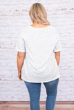shirt, short sleeve, vneck, curved hem, loose, white, gray, leopard, comfy