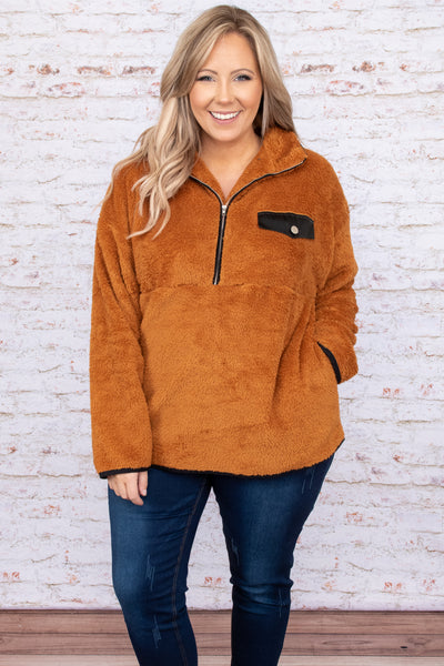 top, hoodie, pullover, orange, solid, long sleeve, warm comfy, winter, fall, toffee