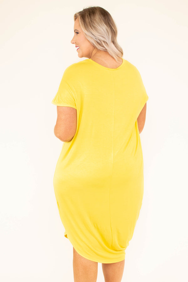 Scene Stealing Maxi Dress, Bright Yellow