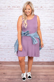 dress, short dress, sleeveless, tank, lavender, purple, loose, comfy