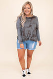 shorts, denim, distressed, frayed hem, ripped, light wash, blue