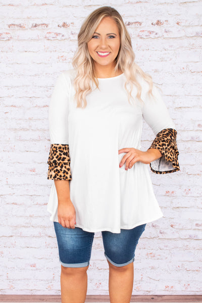 Nobody's Perfect Tunic, Ivory