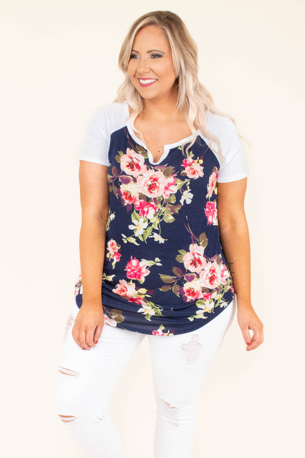 Bring on Spring Top, Navy