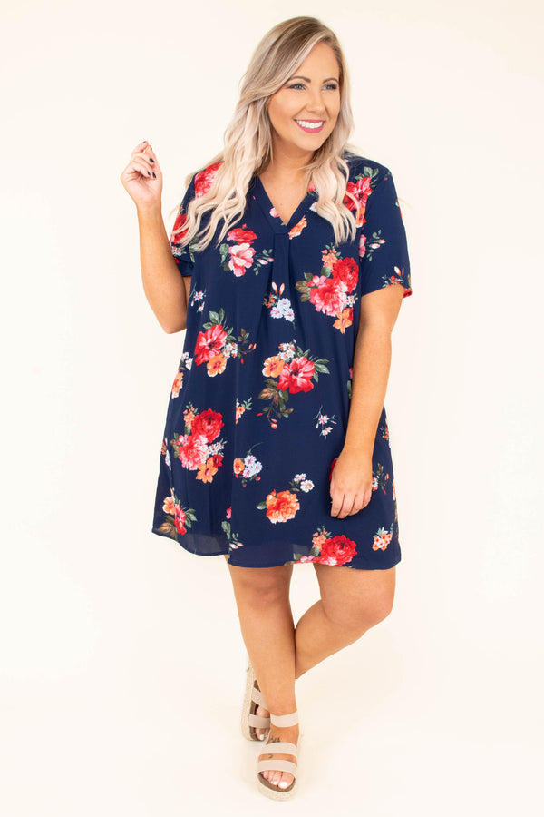 Finally Found Love Dress, Navy