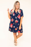 dress, short, short sleeve, vneck, flowy, navy, floral, red, white, orange, green, comfy, spring, summer