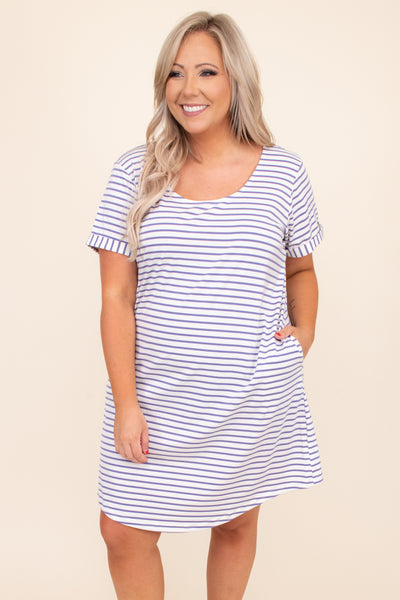 flowy, pockets, stripes, cuffed sleeves, short sleeves, buttons, figure flattering