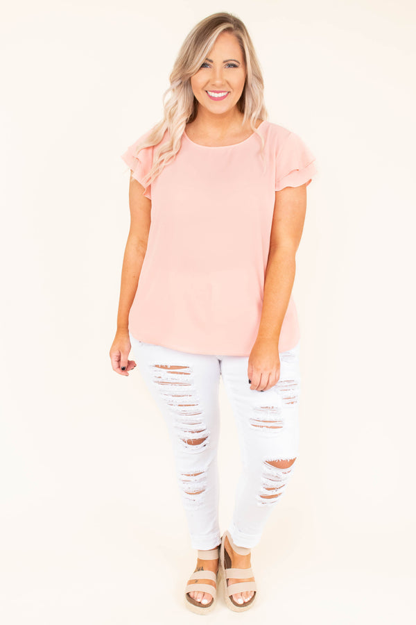 In Love With Life Top, Peach
