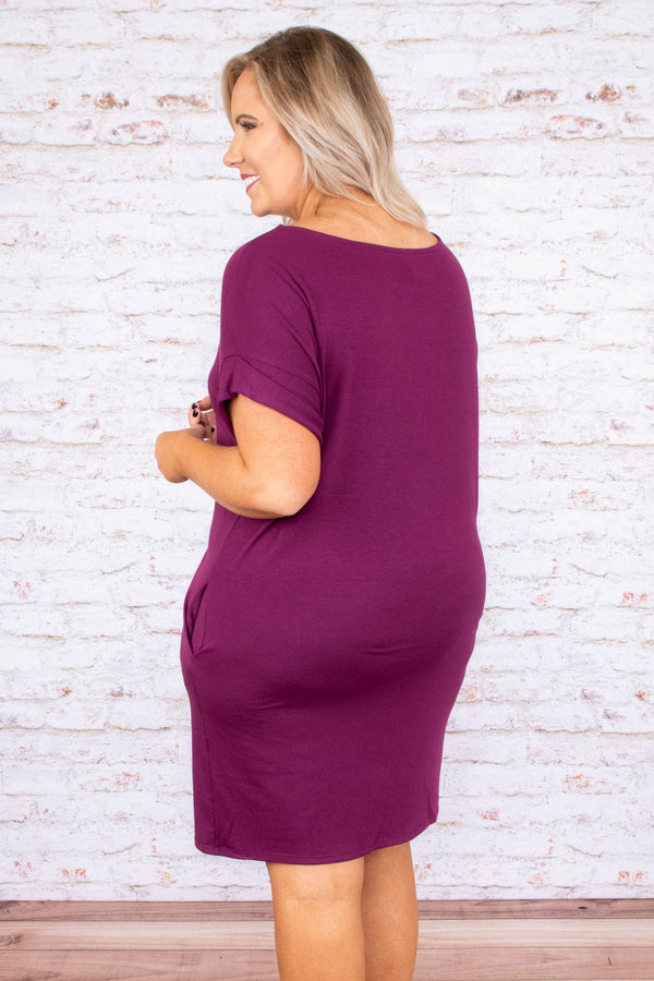One More Day With You Dress, Plum