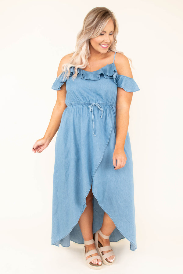 So Much Drama Maxi Dress, Denim