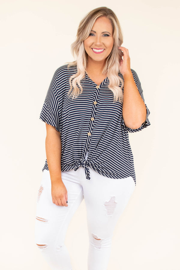 Piece Of My Heart Top, Navy