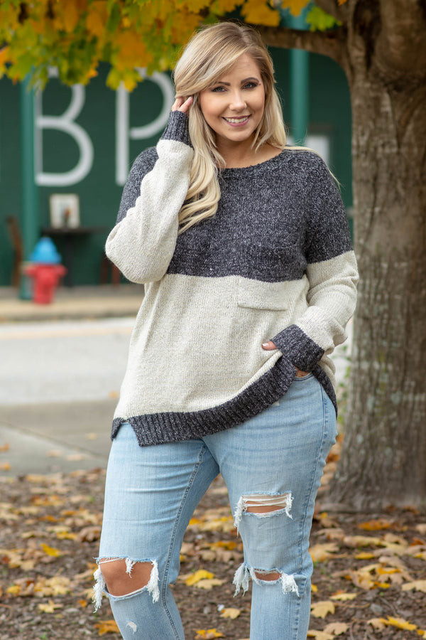 Catch A Falling Star Sweater, Charcoal