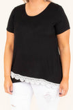A Bit Of Heaven Top, Black