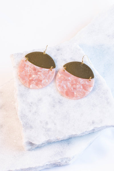 Disco Diva Earrings, Peach