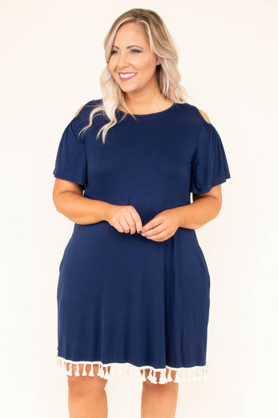 Savor the Occasion Dress, Navy