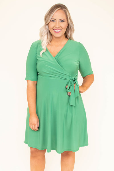 Forbidden Love Dress, Kelly Green