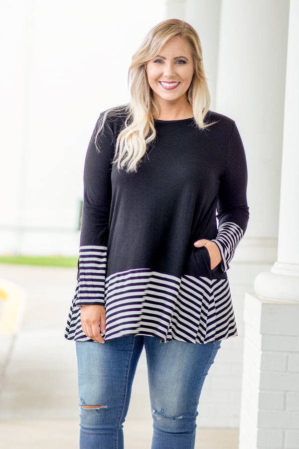 Lead By Example Tunic, Black