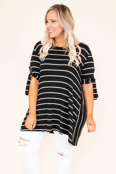 Let's Get Away Tunic, Black