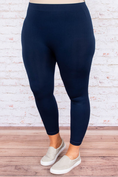 Just Right Leggings, Cropped Navy