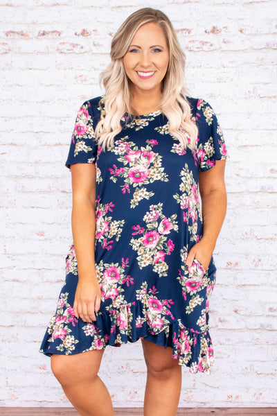 Nothing Left to Say Dress, Navy