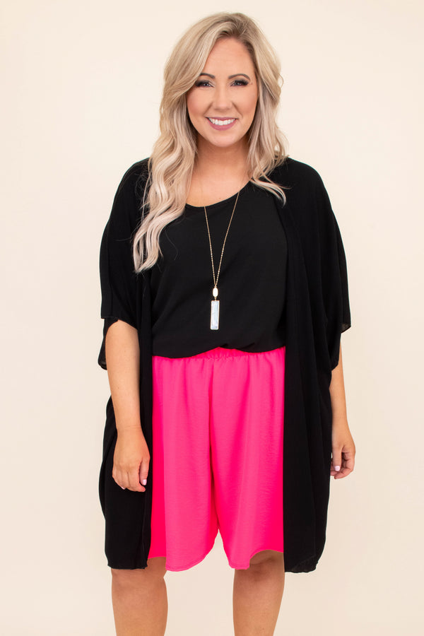 kimono, short sleeve, long, flowy, black, outerwear, spring, summer