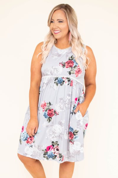 Never Love Again Dress, Grey
