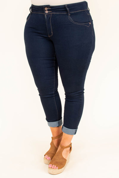 Shop Till I Drop Jeggings, Navy