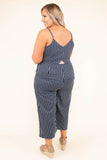 Effortlessly Graceful Jumpsuit, Navy