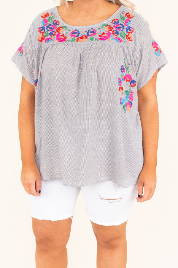 shirt, short sleeve, embroidered, gray, comfy, spring, summer