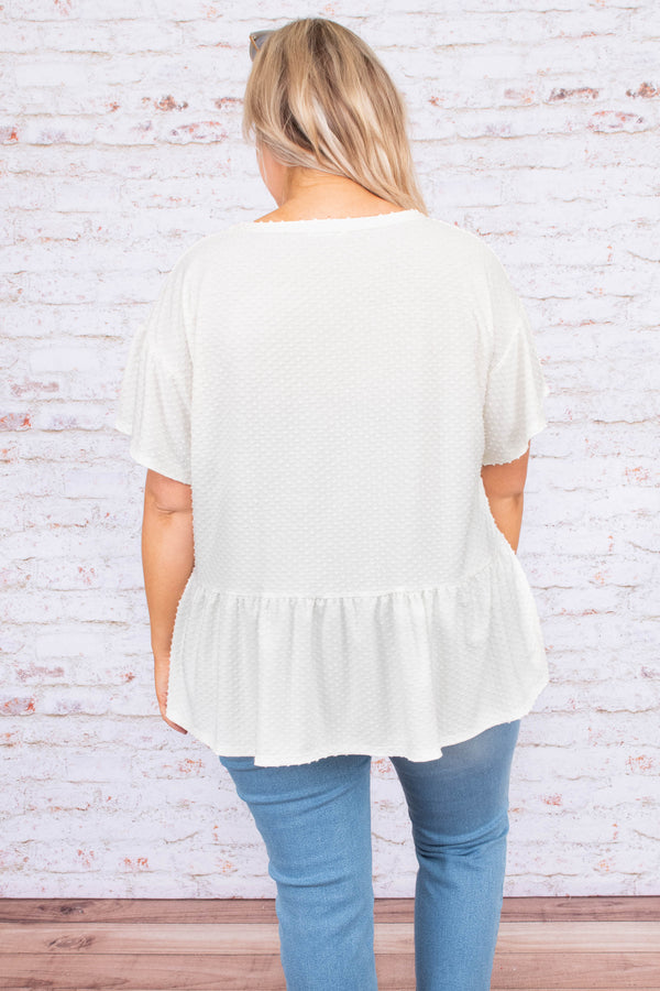 Magnolia Springs Top, Off White