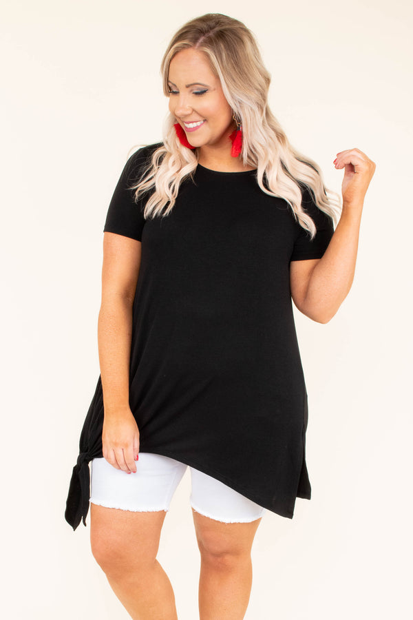 When Time Stands Still Tunic, Black