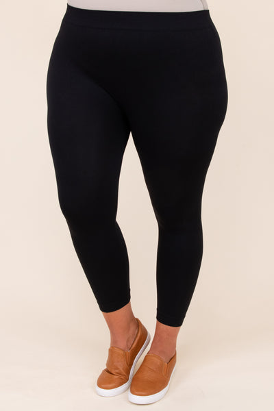 Luxe Leggings, Cropped Black