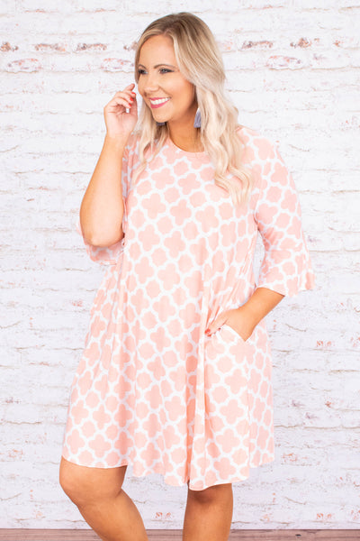 Underneath The Clouds Dress, Dusty Pink