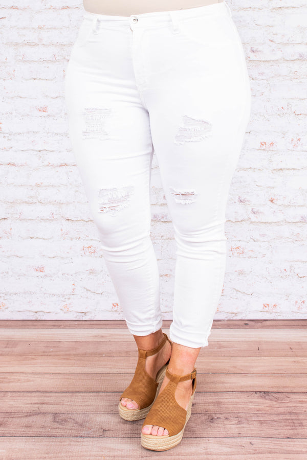 Confidence Boost Skinny Jeans, White