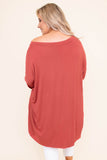 tunic, long sleeve, off the shoulder, flowy, long, red, comfy, fall, winter
