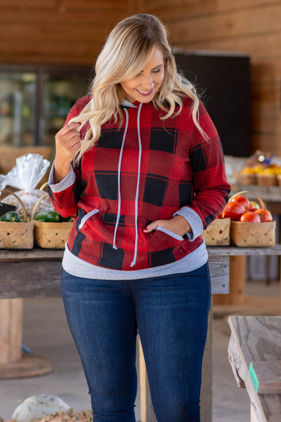 Cooler Days Coming Hoodie, Red