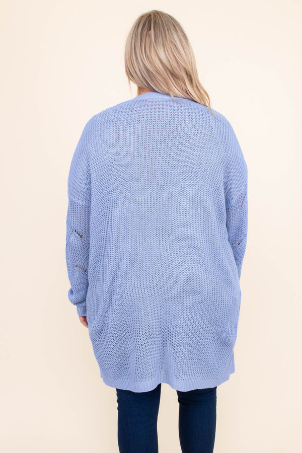 Sweet and Snuggly Cardigan, Aqua