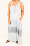 Sand, Sun And Surf Maxi Dress, Blue