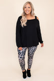 comfy, figure flatterng, grey, print, leggings, long, neutral, fitted