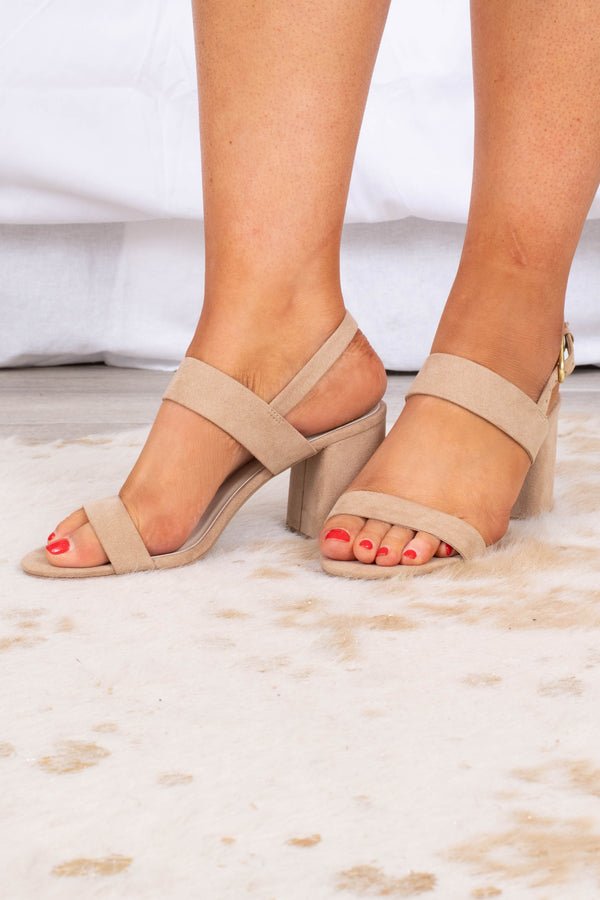 shoes, heels, taupe, block heel, ankle strap, toe strap