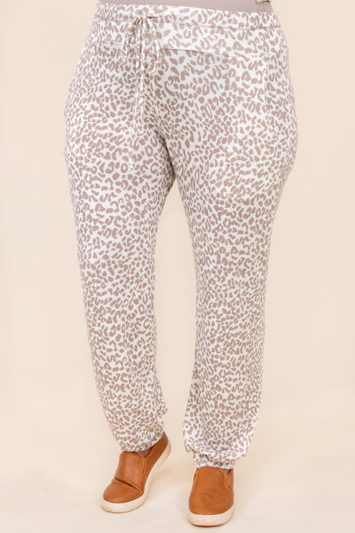 bottoms, lounge pants, brown, white, leopard, set, pajamas