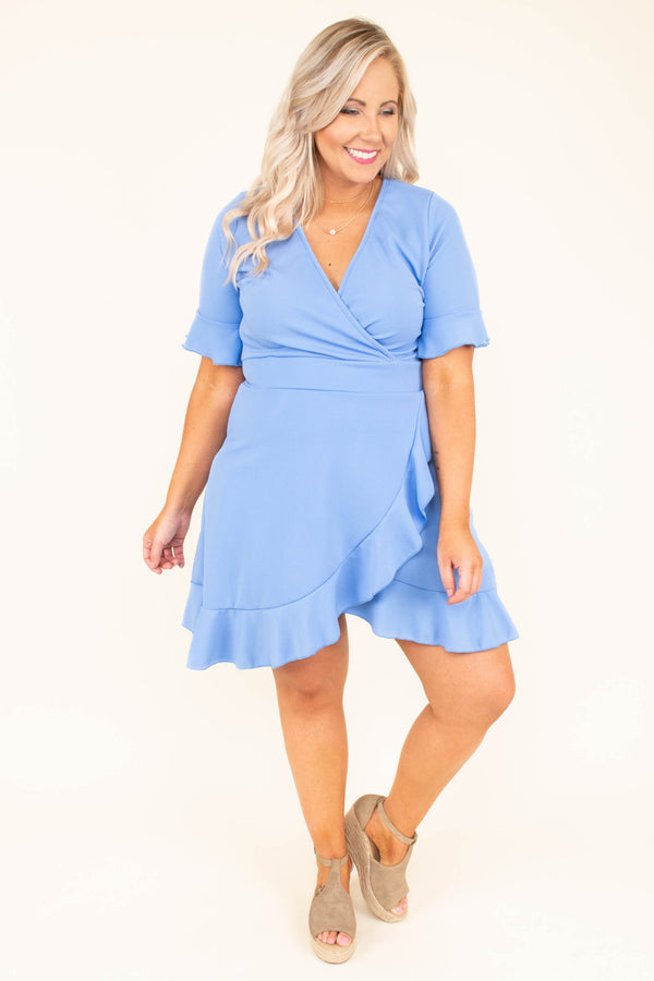 Falling In Love All Over Dress, Baby Blue