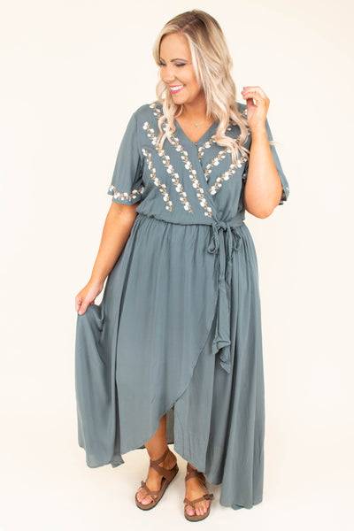 Born To Be Free Dress, Green