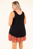 top, tank top, black, sleeveless, summer