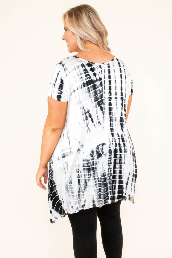 My Love Song Tunic, Off-White-Black