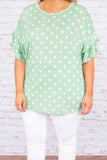 Cheerful Spirit Top, Mint