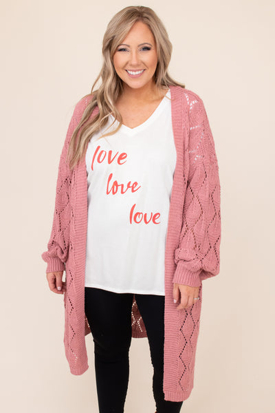top, tee, white, graphic, short sleeve, v neck, Valentine's Day, love